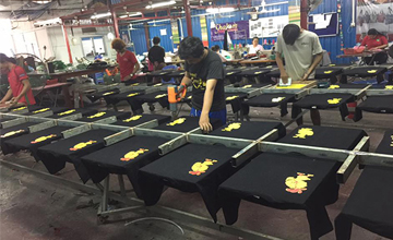 Look at the way they are working in screen printing on t-shirt. We can make your t-shirt with excellence quality. Our printing skills is over 10 years now.