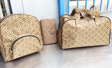 Our custom bags are in set. We use PVC fabric to make bags in Phnom Penh Cambodia.